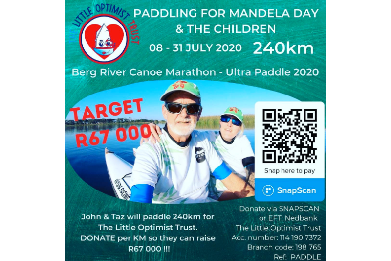 PADDLING 4 MANDELA & THE CHILDREN!